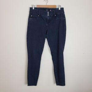 Torrid Dark Blue Triple Button Skinny Jeans